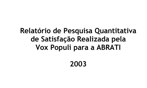 ABRATI 2003