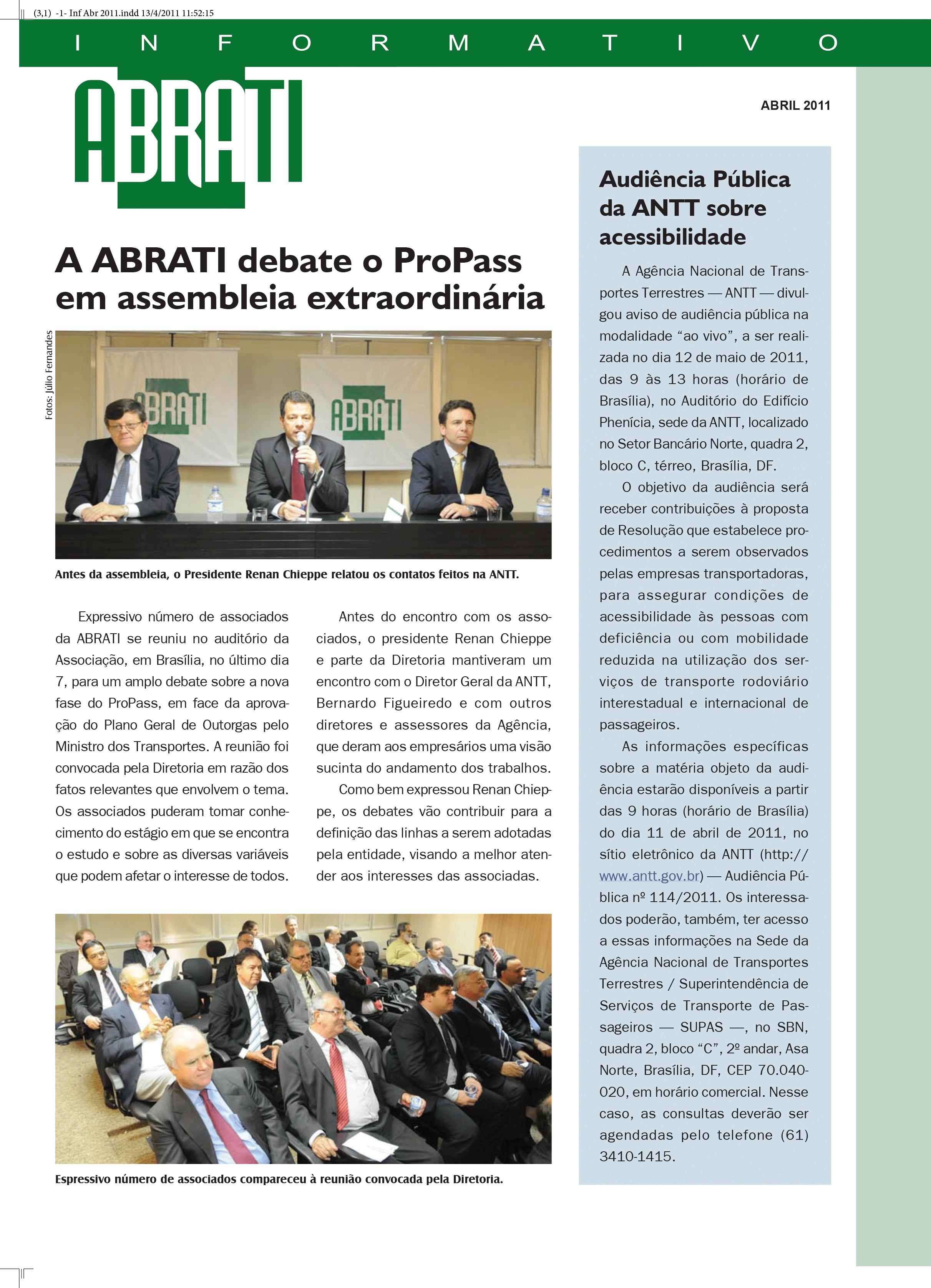 Informativo Abril 2011