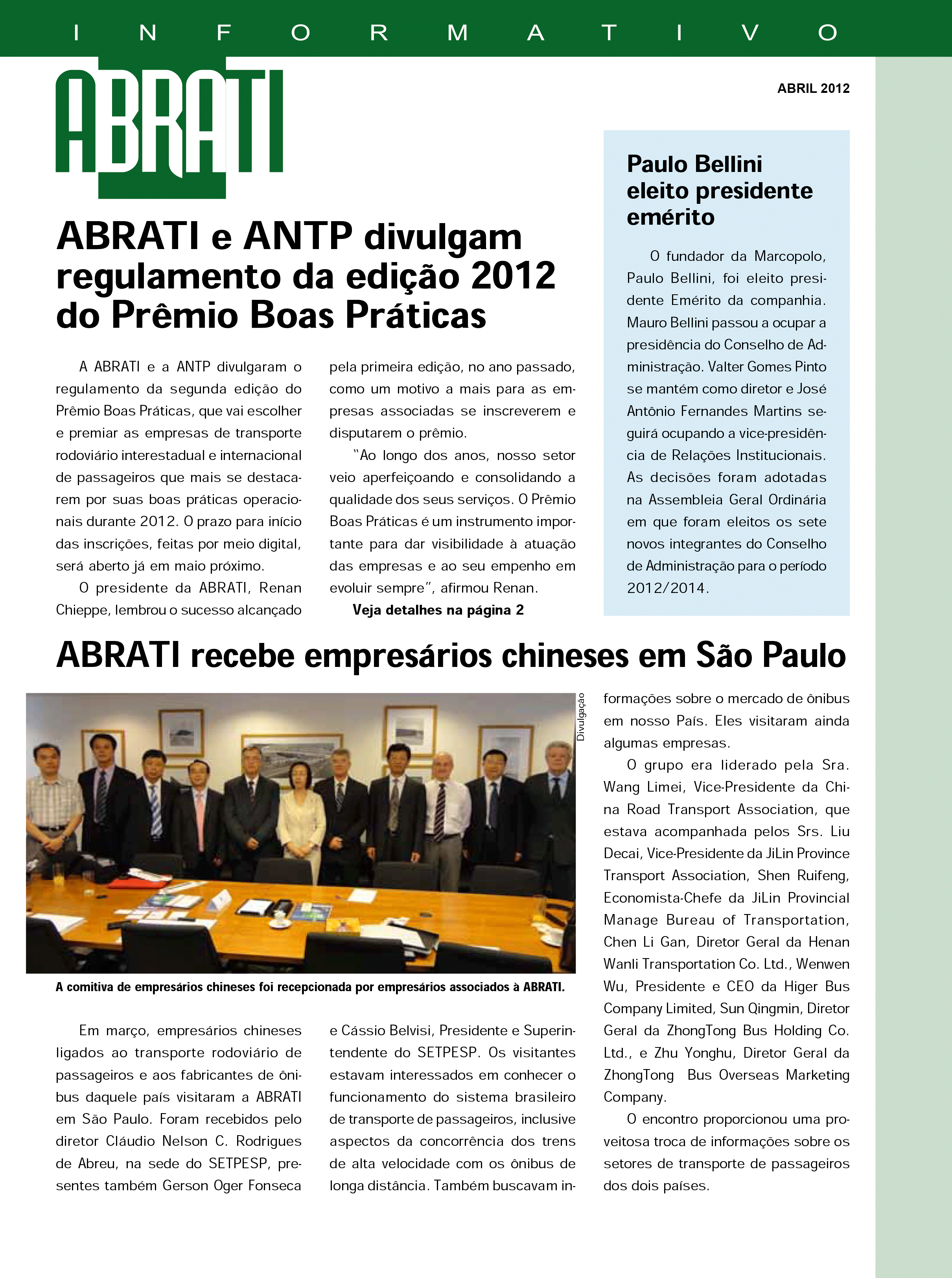 Informativo Abril 2012