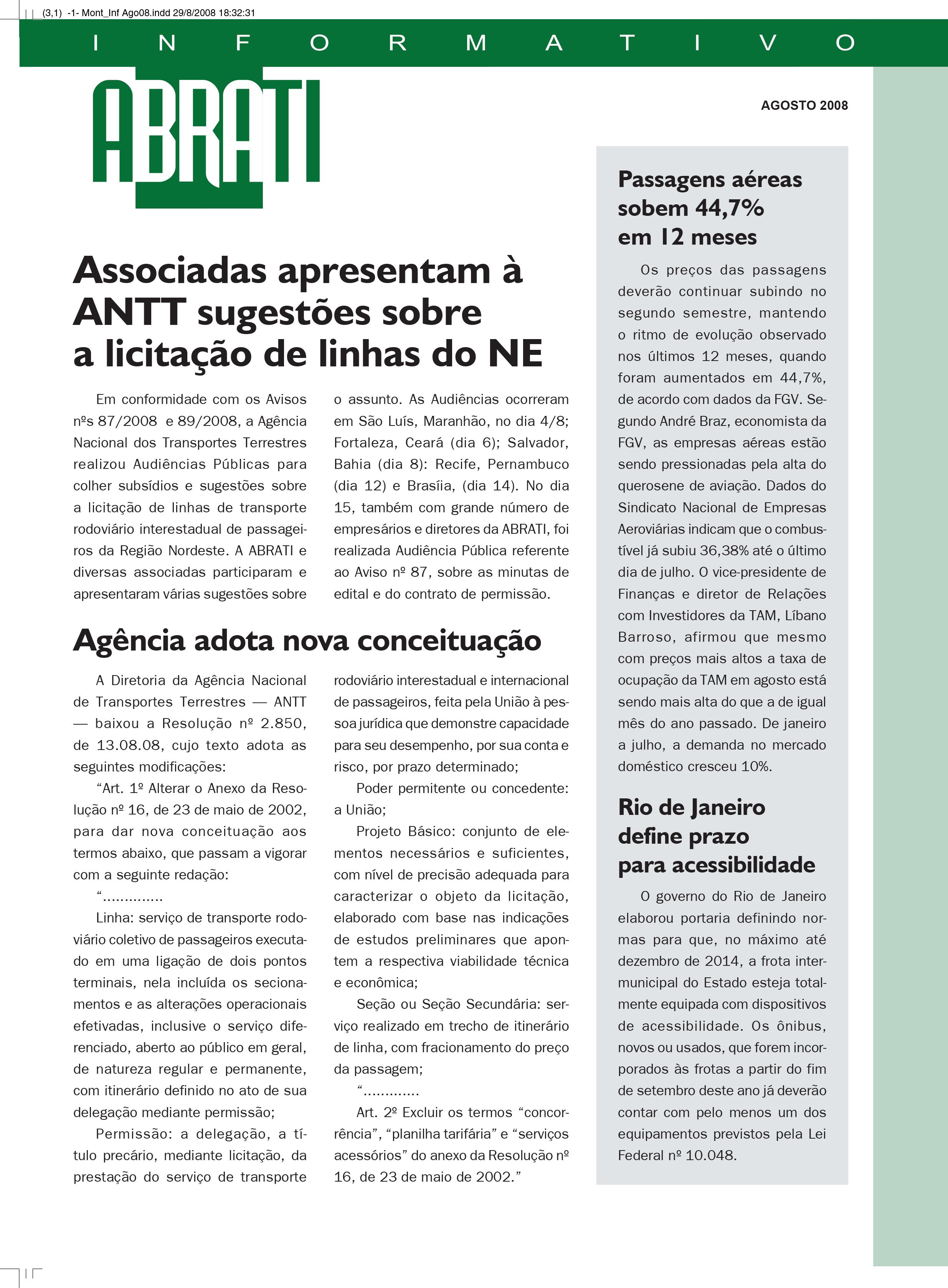 Informativo Agosto 2008