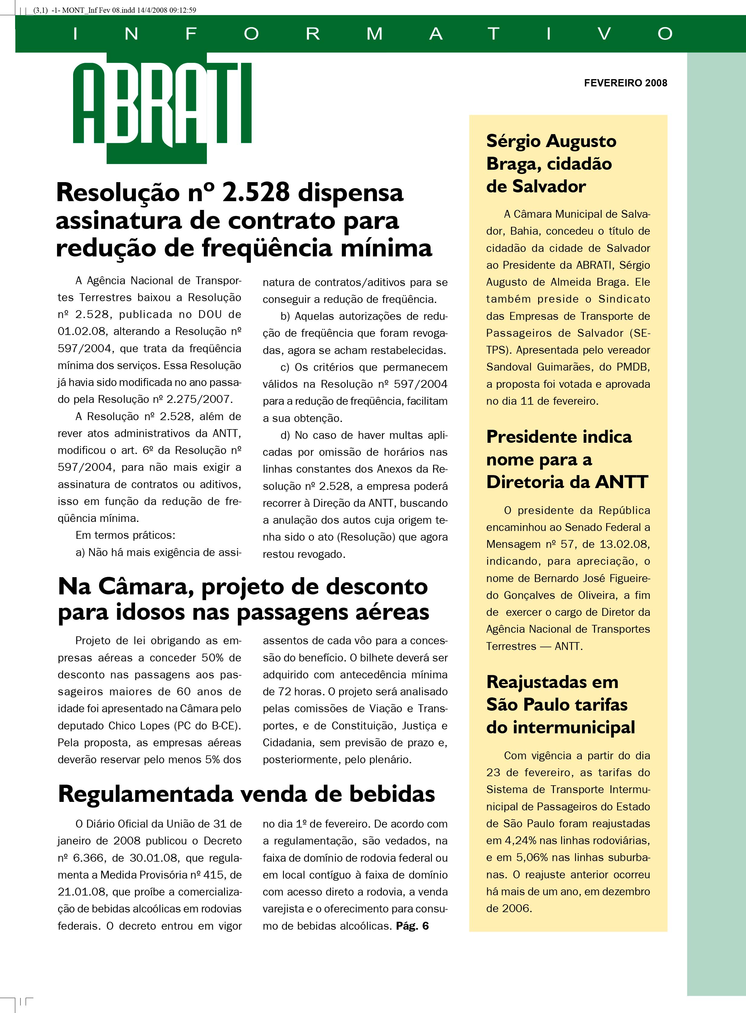 Informativo Fevereiro 2008