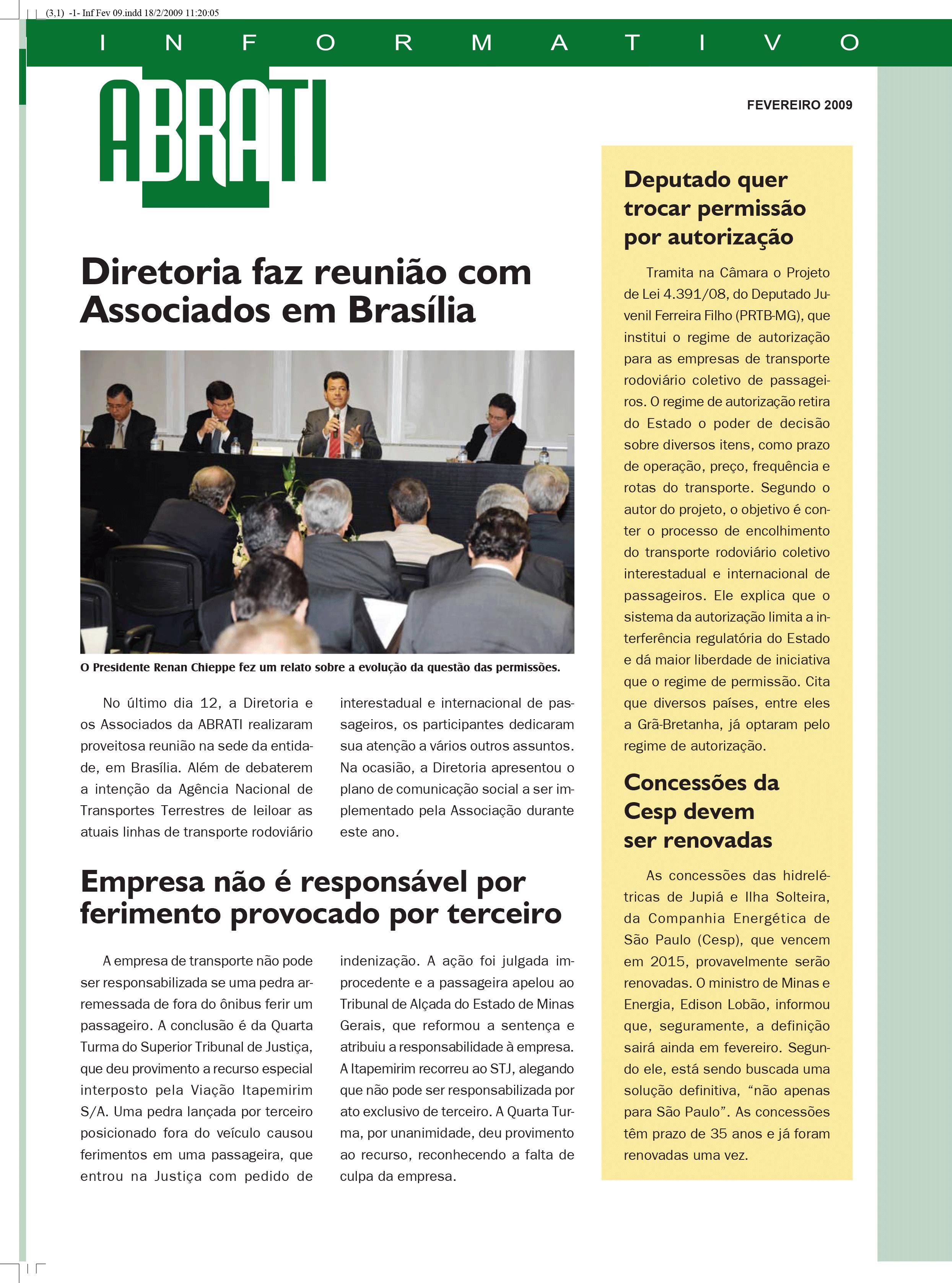 Informativo Fevereiro 2009
