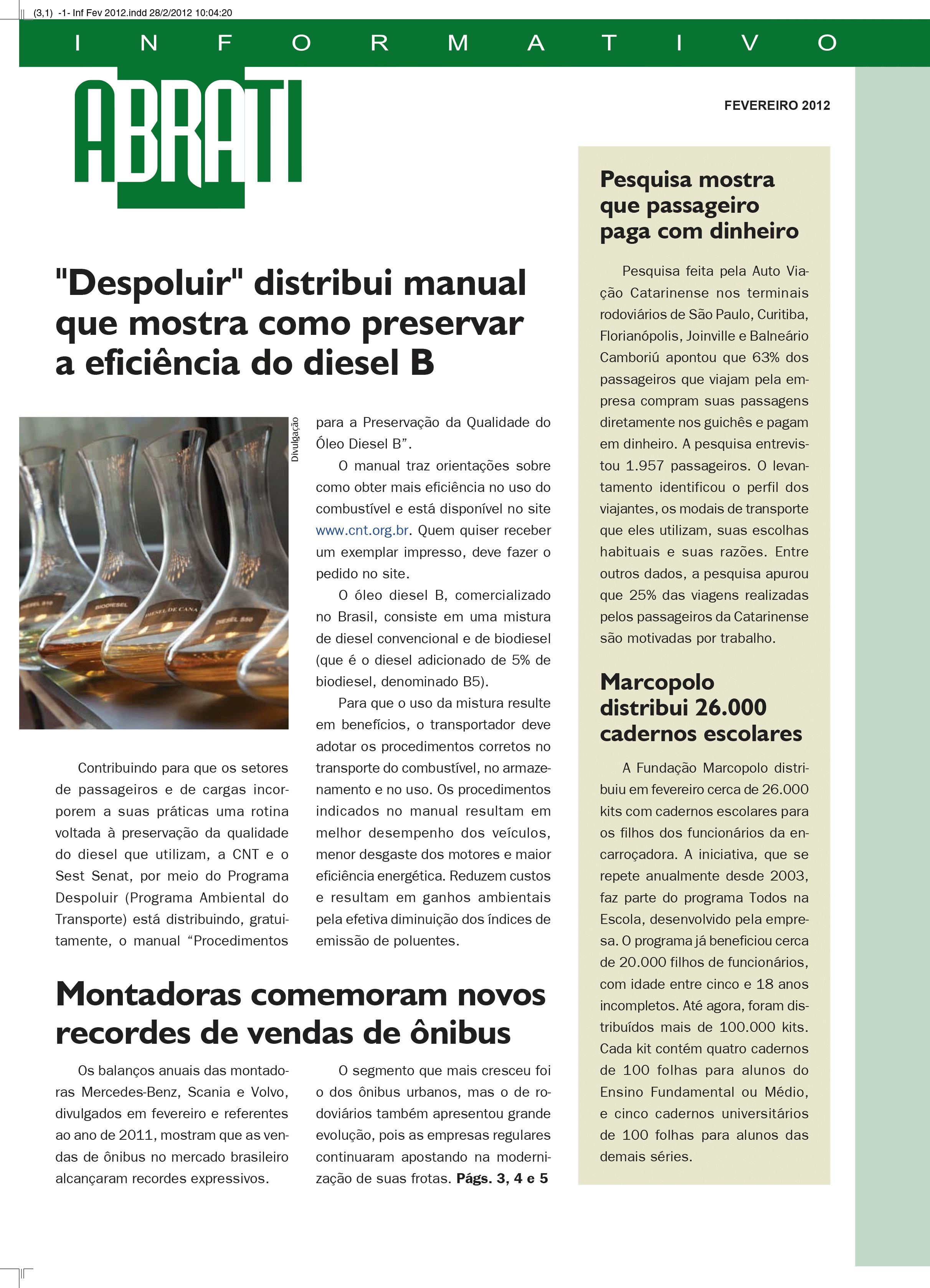 Informativo Fevereiro 2012