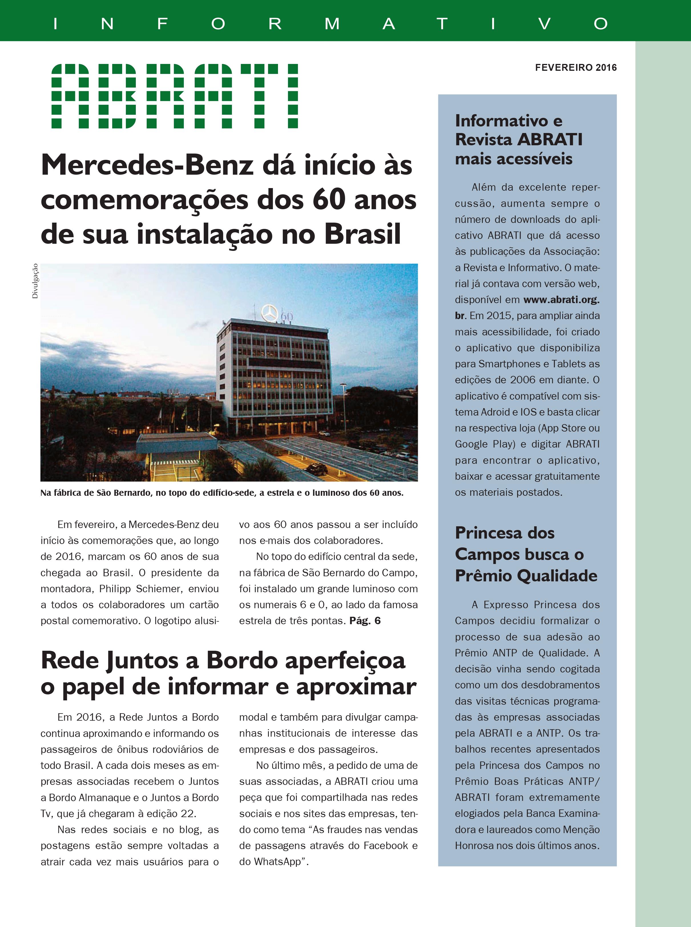 Informativo Fevereiro 2016