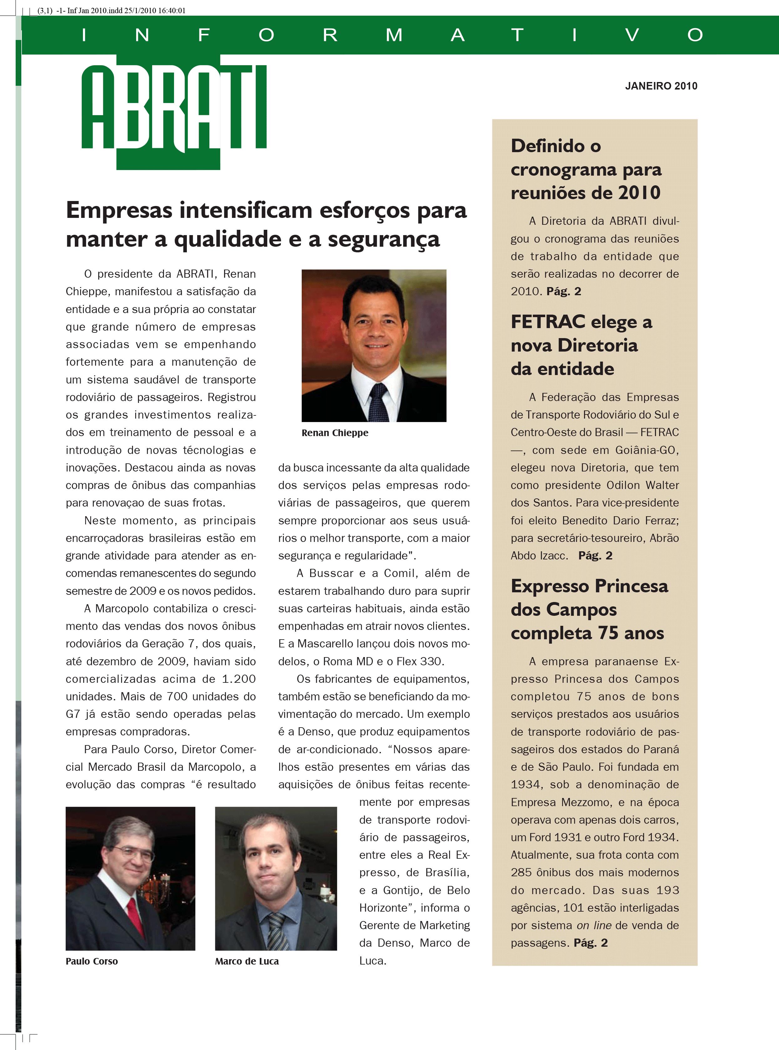 Informativo Janeiro 2010