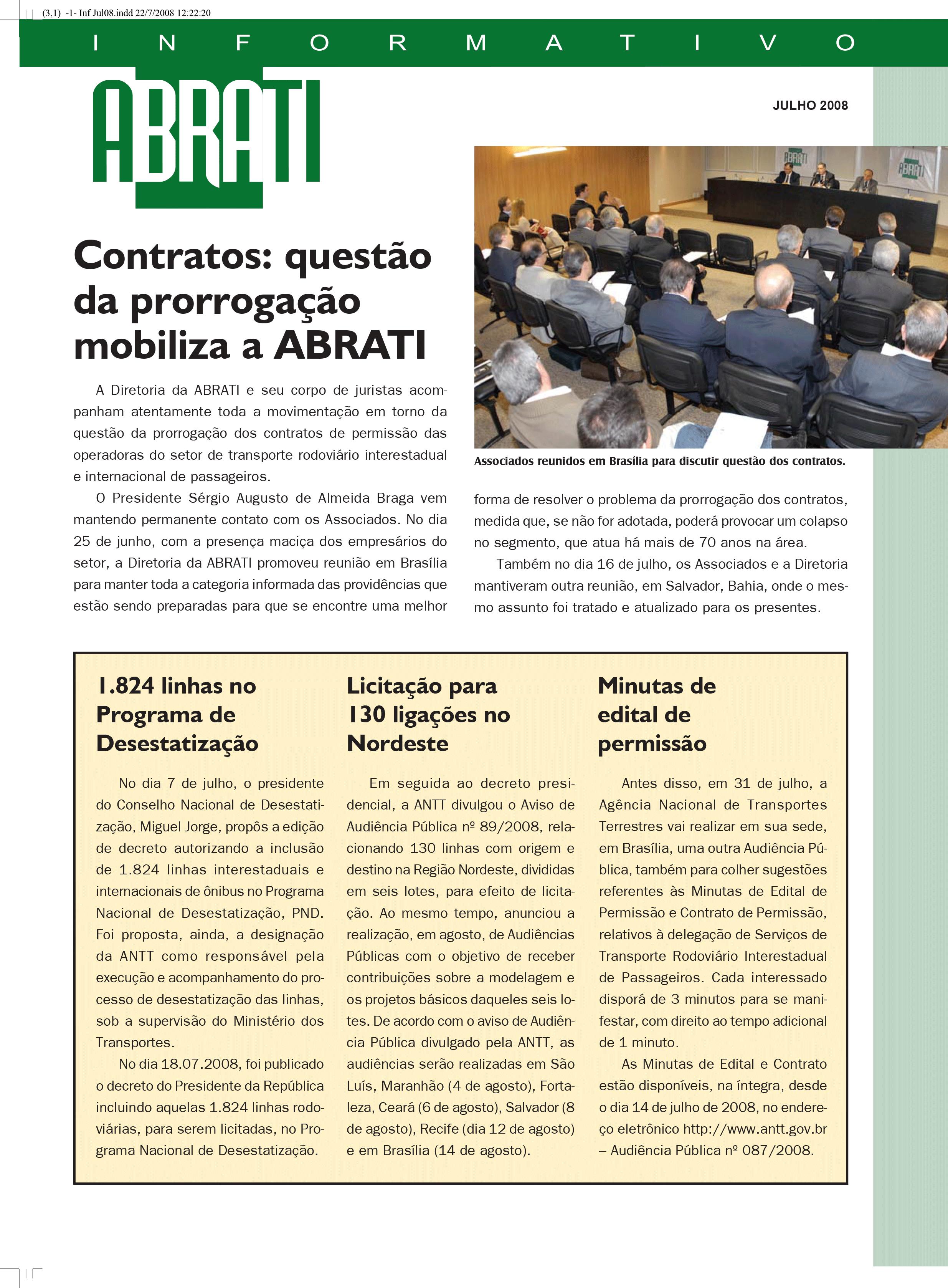 Informativo Julho 2008