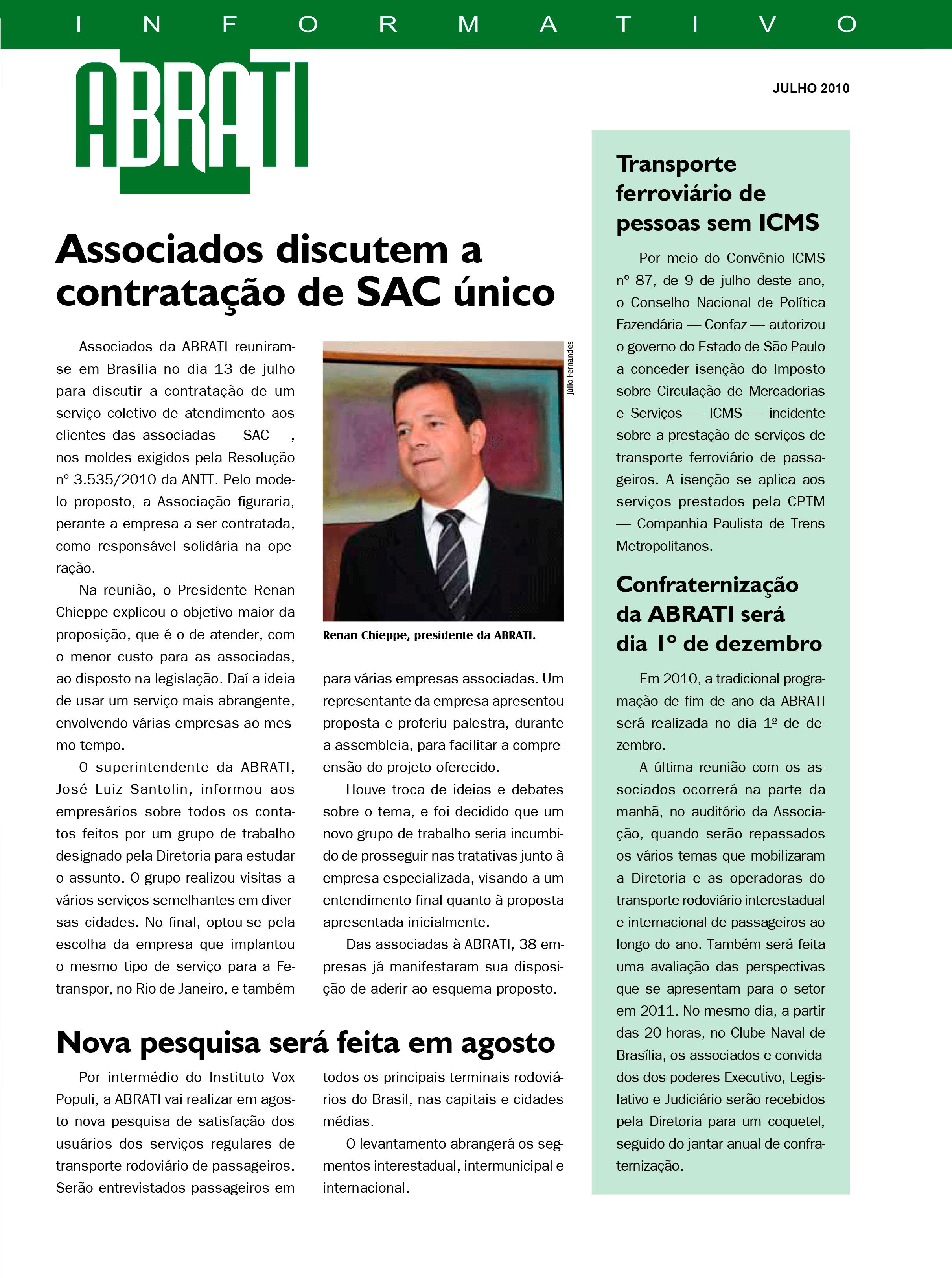 Informativo Julho 2010