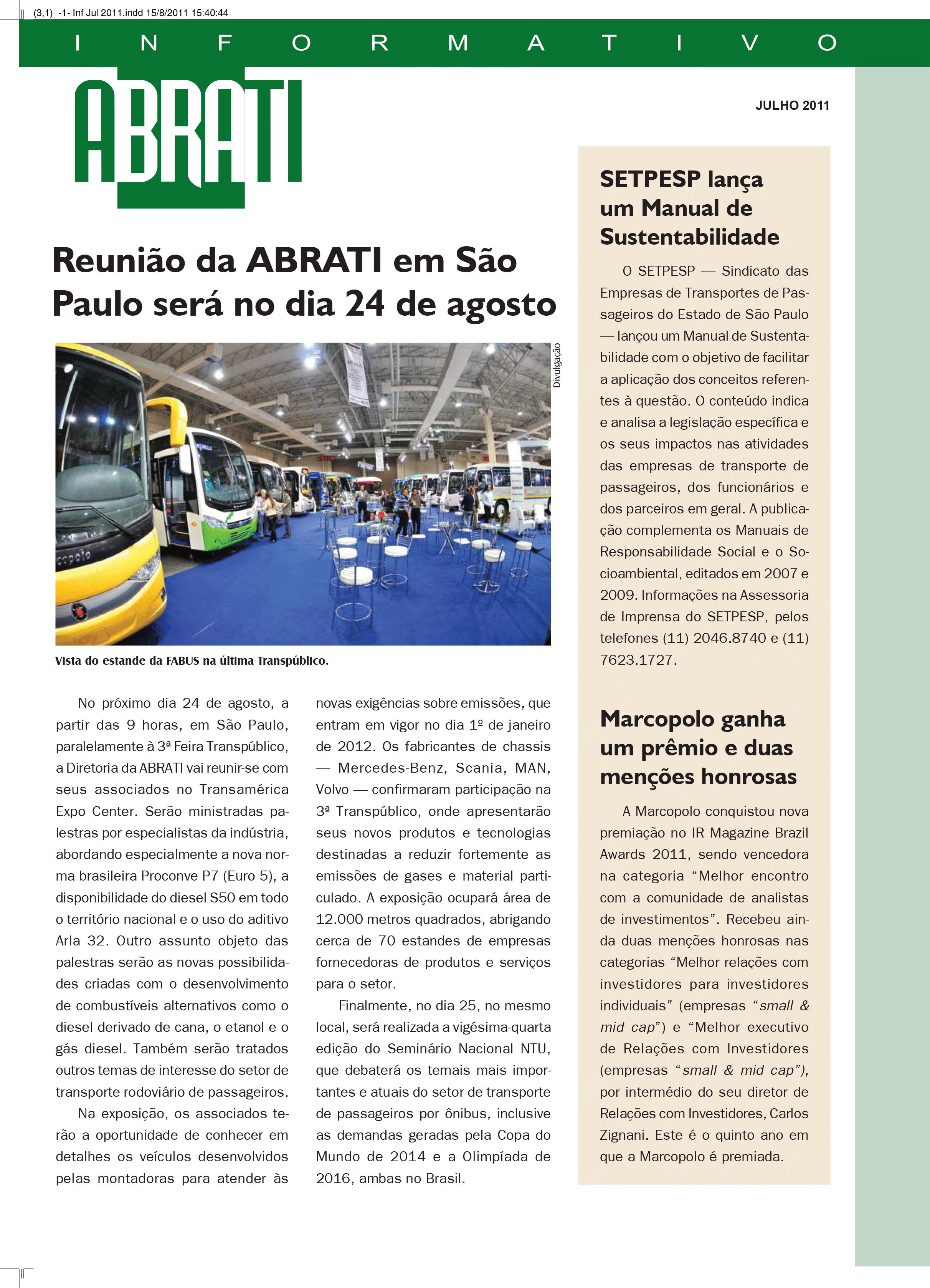 Informativo Julho 2011