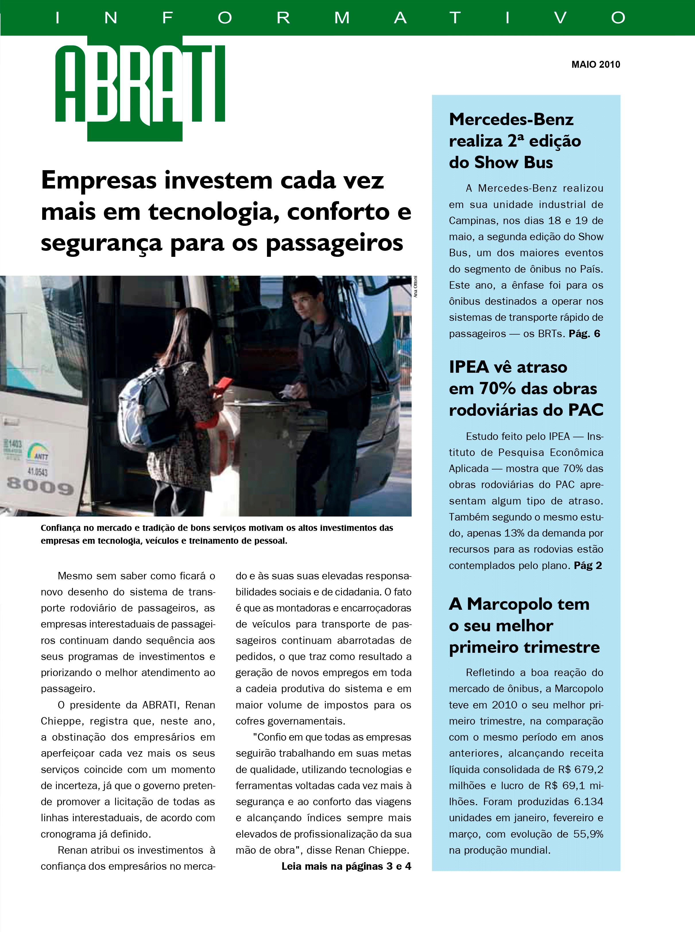 Informativo Maio 2010