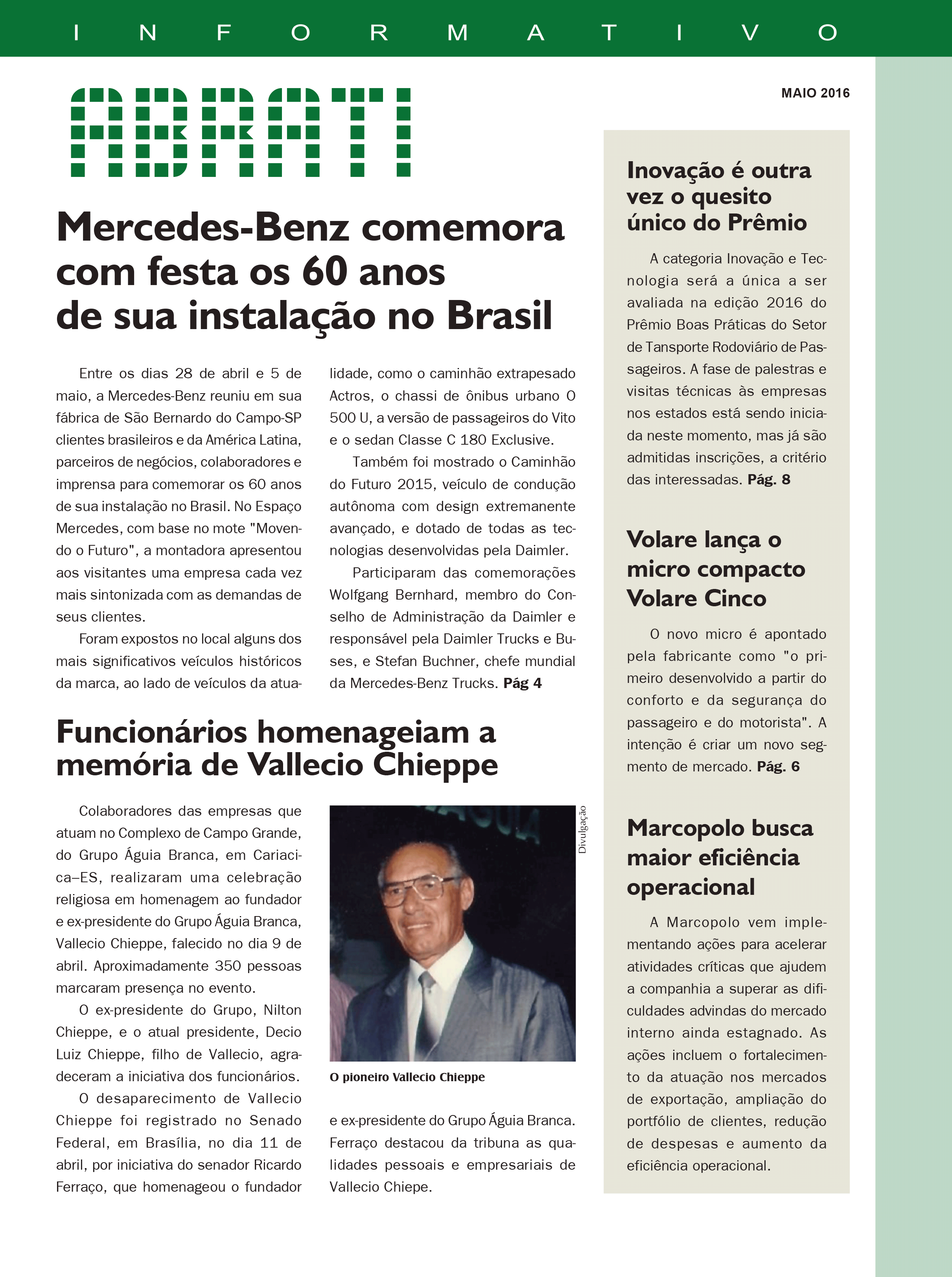 Informativo Maio 2016