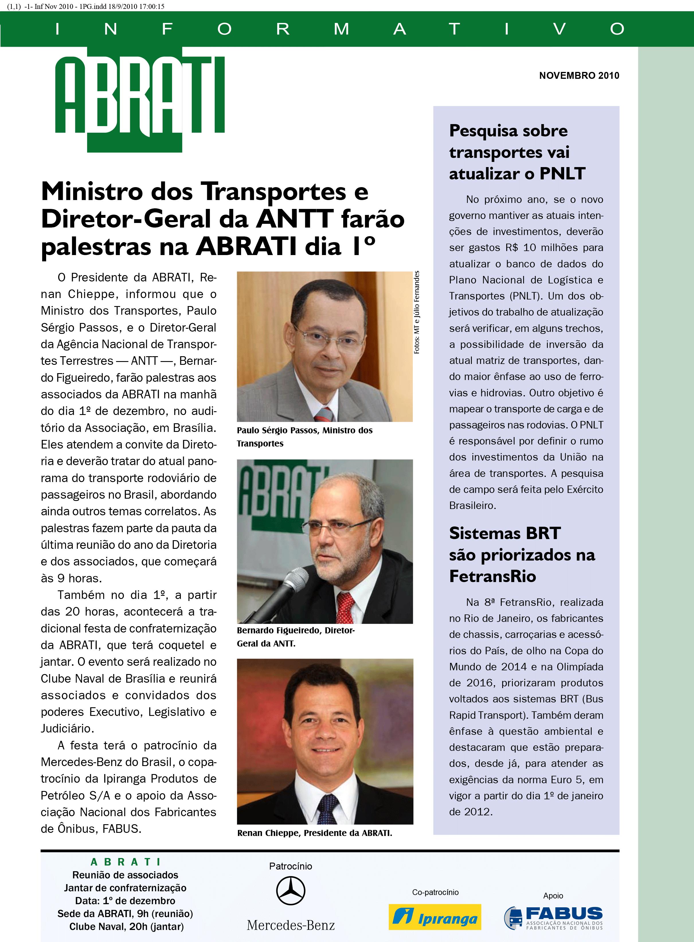 Informativo Novembro 2010