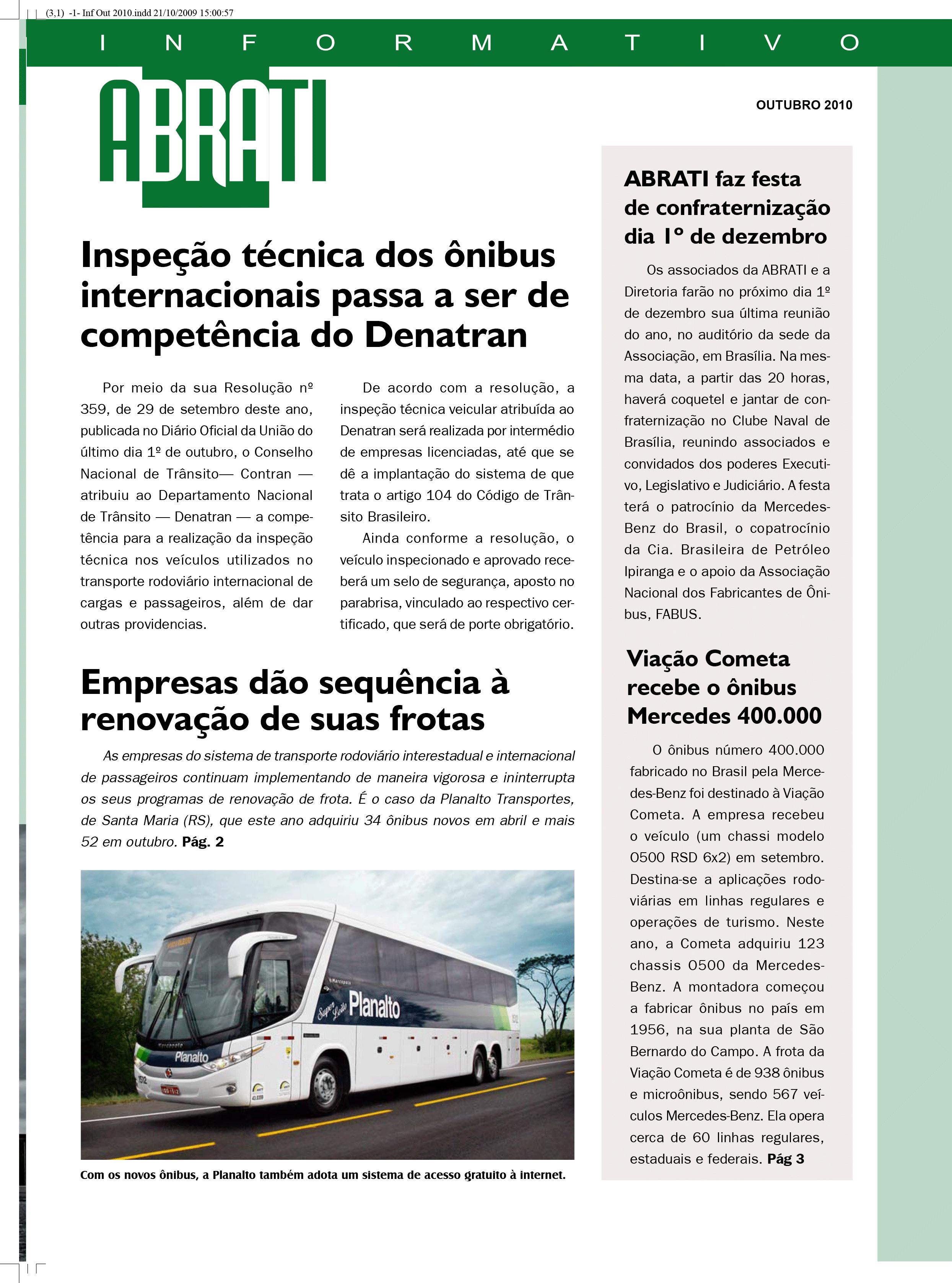 Informativo Outubro 2010
