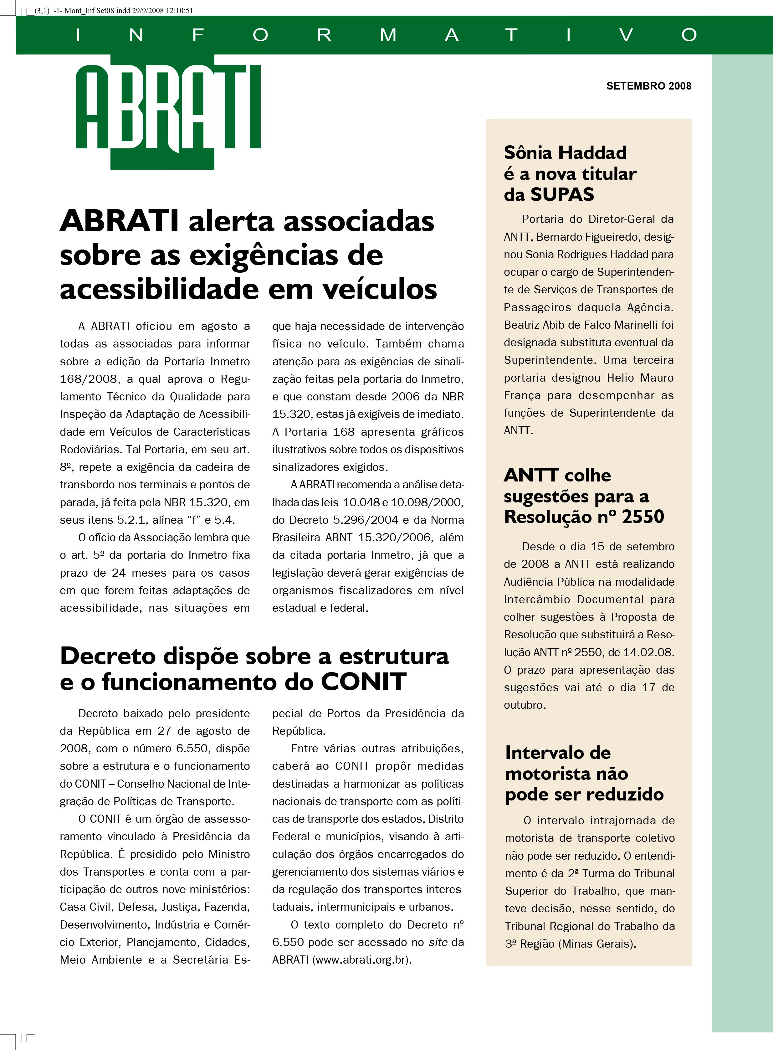 Informativo Setembro 2008