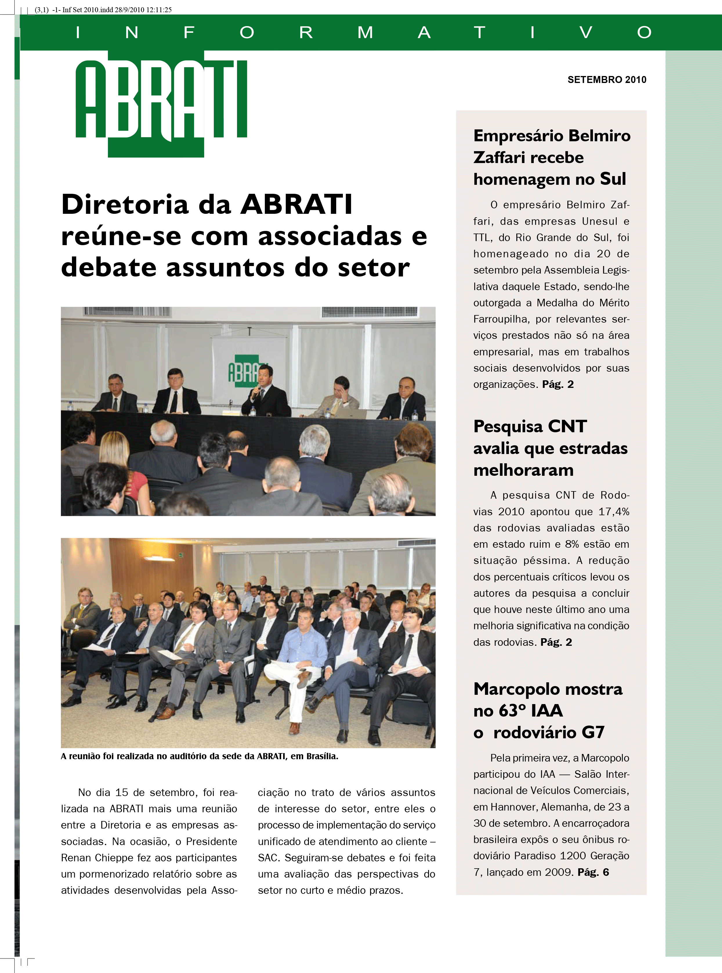 Informativo Setembro 2010