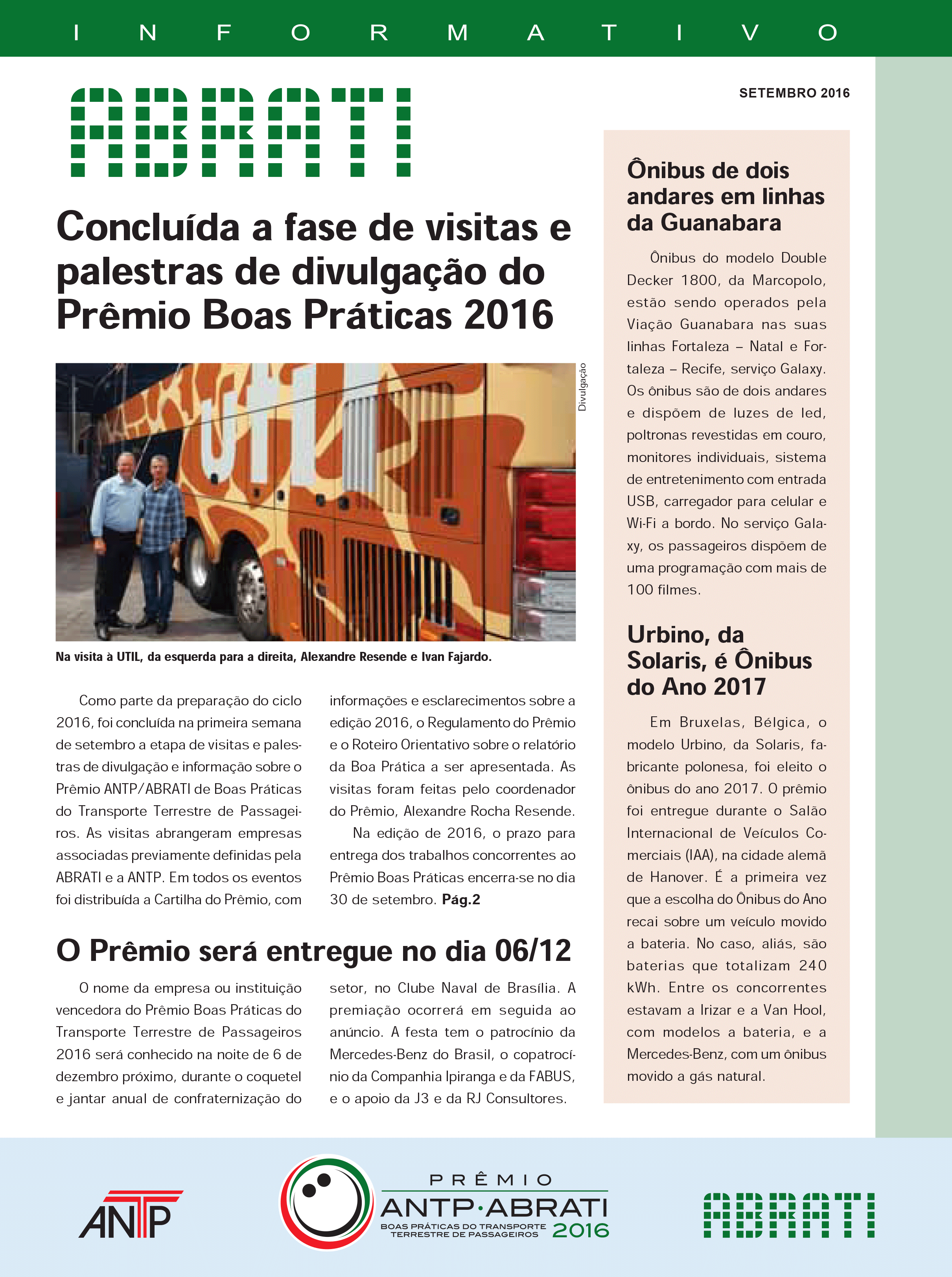 Informativo Setembro 2016
