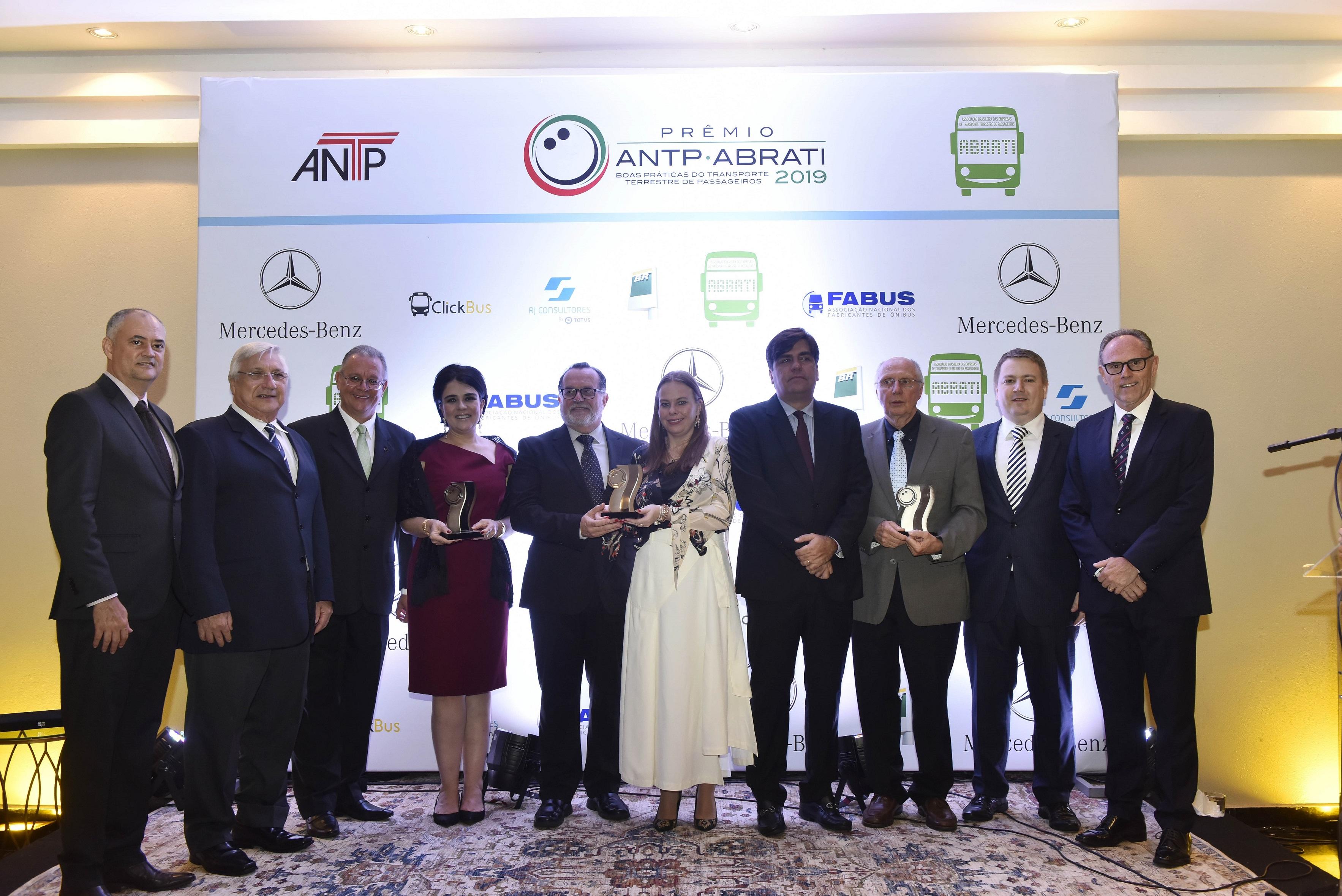 Três empresas vencem Prêmio ANTP-ABRATI 2019 Boas Práticas